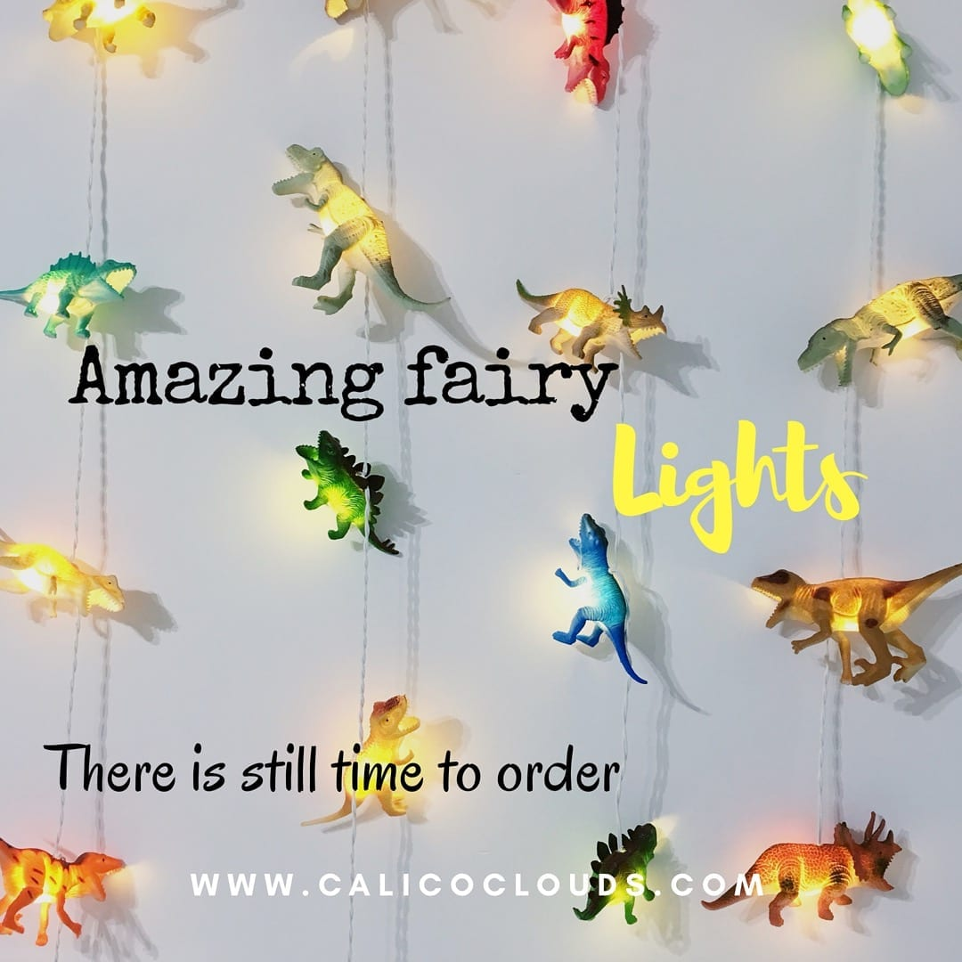 Dinosaur Fairy Lights Calico Clouds